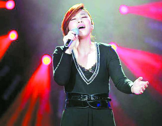 Jess Lee Jiawei sang on the stage of I am a singer season 3 of 2015 year.