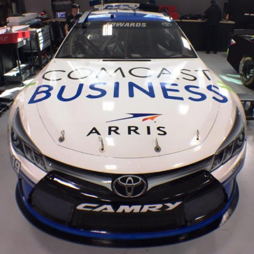 Comcast Business will adorn the hood of Carl Edwards' Sprint Cup car for four races this season