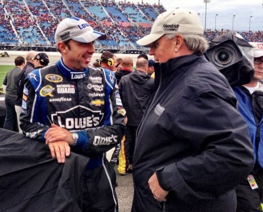 Crew chief Knaus has been accused of receiving favored treatment from NASCAR due to working for Hendrick