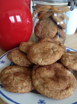 Whole wheat toasted coconut snickerdoodles