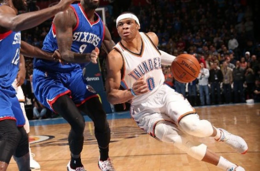 Westbrook against the Philadelphia 76ers