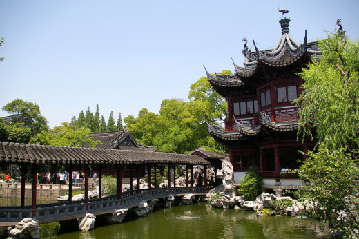 The Pavilion of Listening to Billows in Yu Garden.