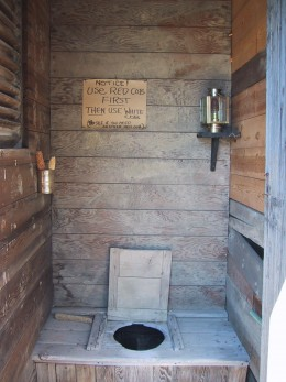 The outhouse with a choice (instructions included).