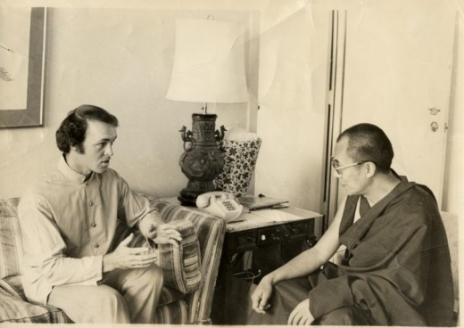 Brian Gray with His Holiness the Dalai Lama of Tibet - September 10, 1979, Washington, D.C.