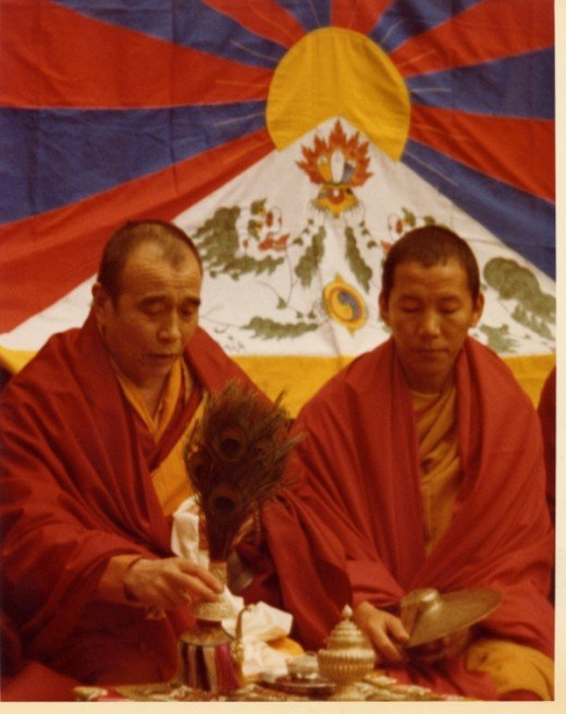 Tibetan Monks at the March 10th Rally in New York - 1978.