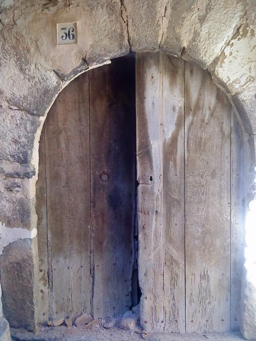 Door and number 36