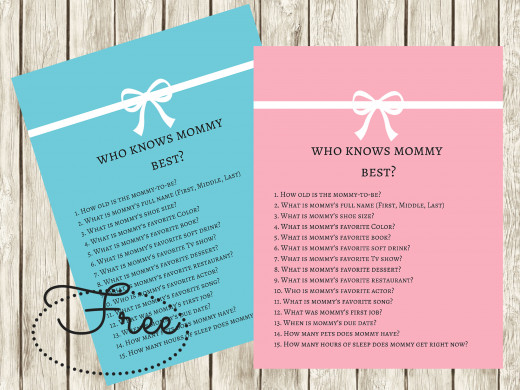 FREE Printable from Baby Shower Ideas 4U