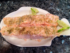 Baked Salmon with Ginger Relish