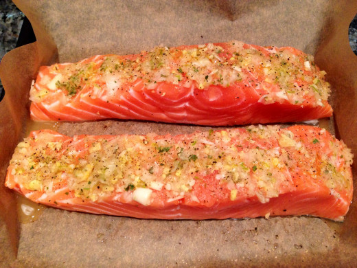 Prepped Salmon with Ginger Relish
