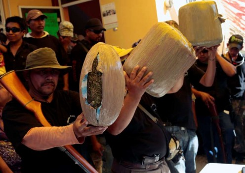 Vigilantes seize pot in the state of Guerrero
