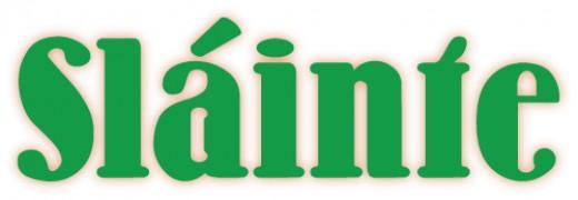 Slainte Irish Word Art