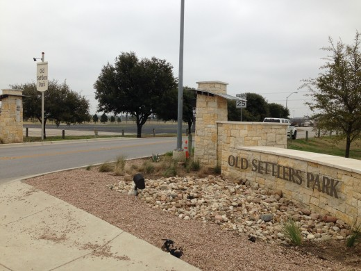Entrance to Old Settlers Park in Round Rock TX