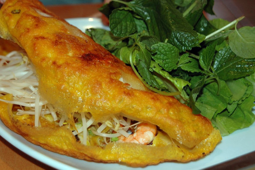 See great Banh xeo recipes, including ones for the Vietnamese dipping sauce
