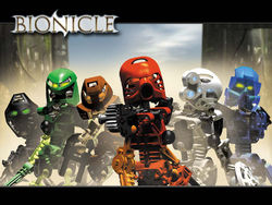 The original versions of Toa from Bionicle.