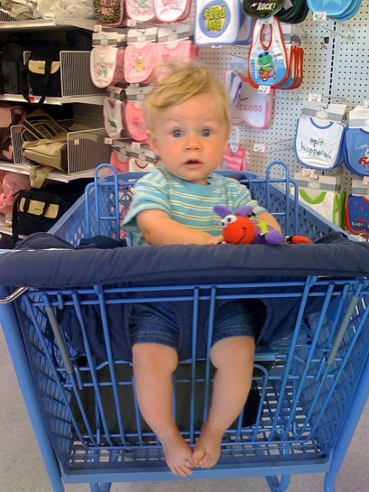 WHAT...you mean you made your kids ride in shopping carts without handle covers???