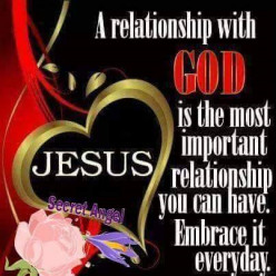 A Relationship with God is First