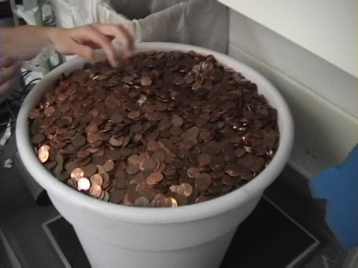 Bucketful of pennies - deep impact