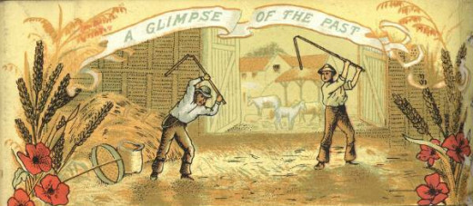 Threshing with a Flail