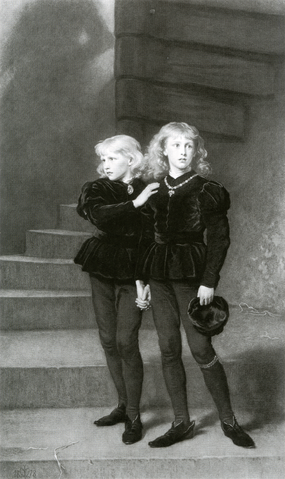 Young Prince Edward and his younger brother Prince Richard