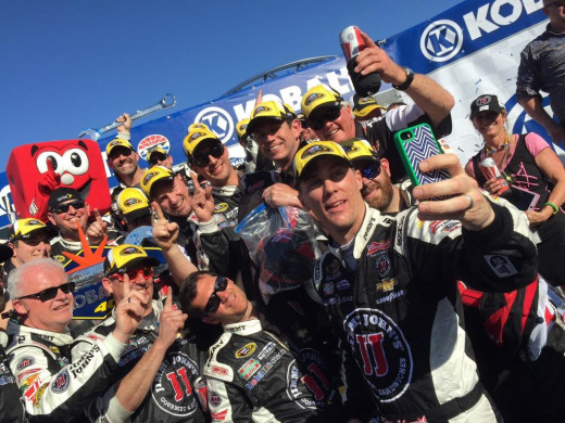 Kevin Harvick and crew celebrated leaving Las Vegas