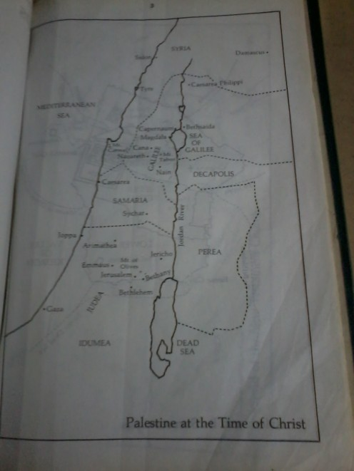 Maps like these are usually located at the last pages of the Bibles