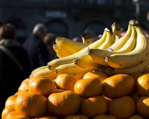Bananas and oranges have a lot of potassium.