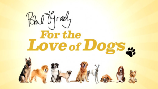 "The logo for the programme ""The Love of Dogs."""