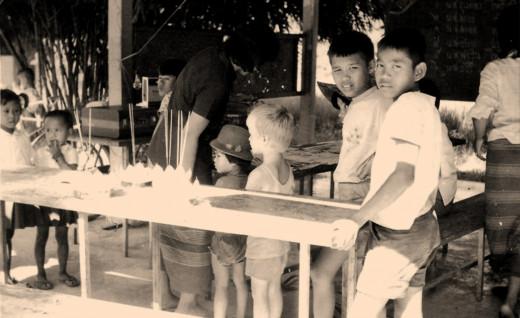 Preparing for the Loi Krathong festival