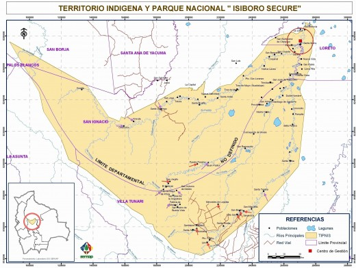 Indigenous Areas in Boliva Affected by the Highway
