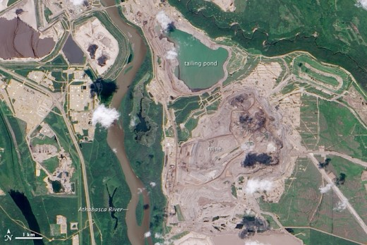 Tar Sands Pits in Alberta