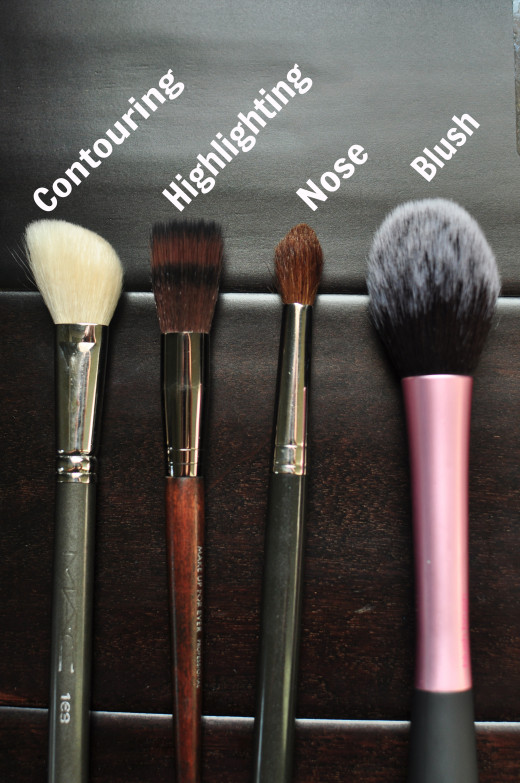 This picture shows the types of brushes you should use and the purpose of each of the brushes! This really helps with the process to create precision and a great flawless finish!