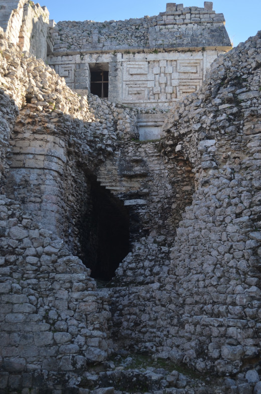 """I am not sure what this structure is called but I call it """"The Hole In The Wall"""". It gives you a peak into the structure from the outside."""