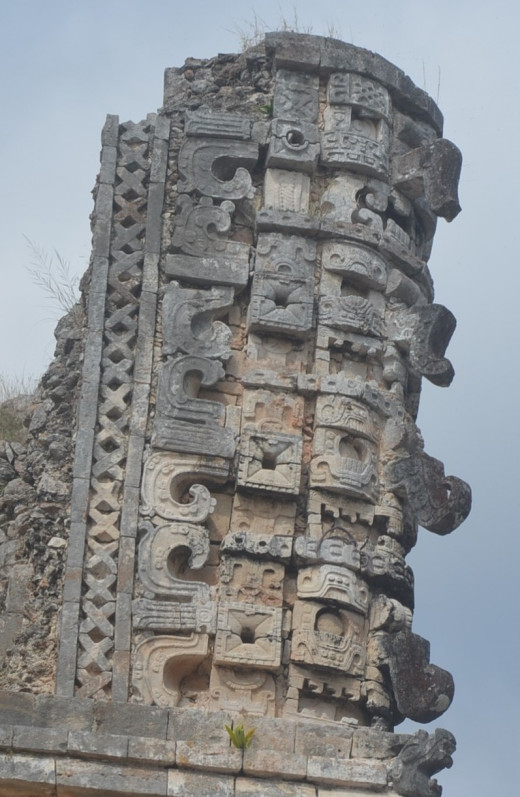 Some of the impressive stone work at Uxmal
