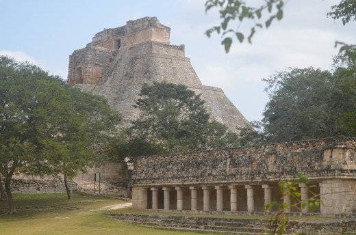 Another view of the pyramid from beyond the courtyard