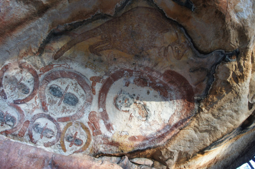 Some of the aboriginal artwork we saw was over 20,000 years old.