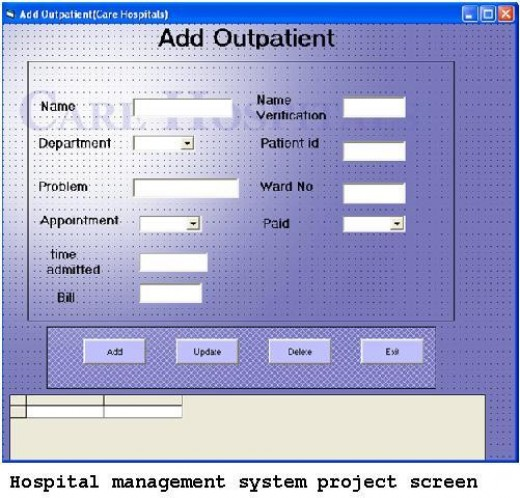 hospital management system thesis Search for jobs related to computerized hospital management system thesis project or hire on the world's largest freelancing marketplace with 13m+ jobs it's free to sign up and bid on jobs.
