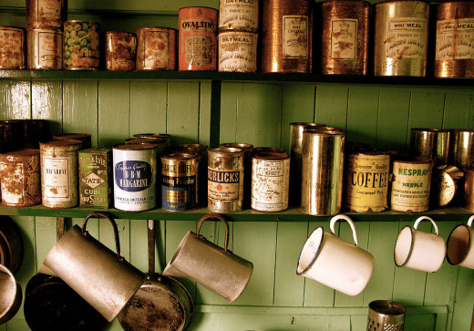 Old cans.