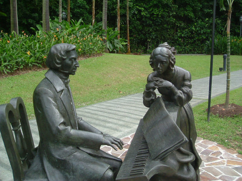 Chopin & his wife - Singapore Botanical Gardens