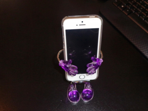 iPhone with Purple Stand