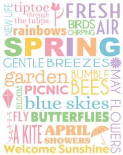Click on the link for the free 8x10 spring subway art printable.