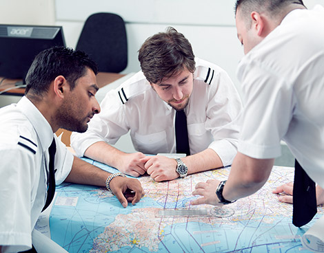 Airline pilot trainees learning CPL