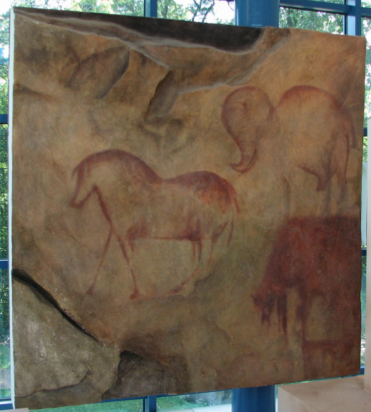 Prehistoric cave drawings