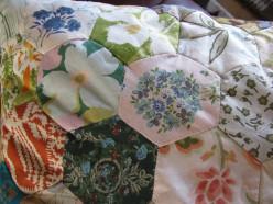 Patchwork Cushion - each hexagon tells a story