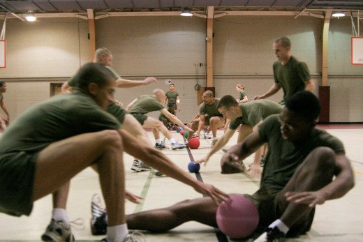 Even the military sometimes uses dodgeball for PE.