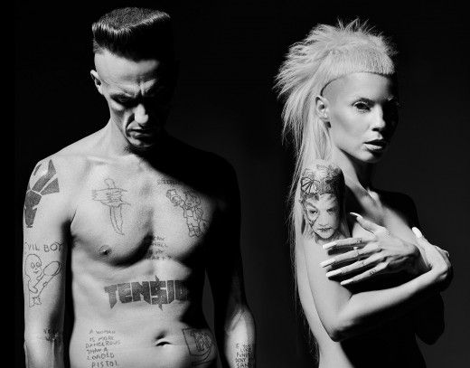 Ninja and Yolandi of rap-group Die Antwoord co-starred and scored part of the film