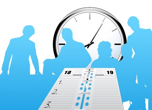 Scheduling helps to get everyone on the same page