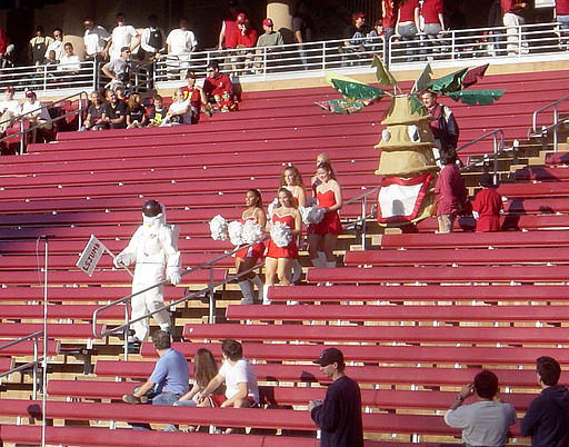 Stanford's bandleader, cheerleaders, and mascot
