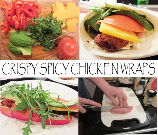 Crispy Spicy Chicken Wraps Recipe