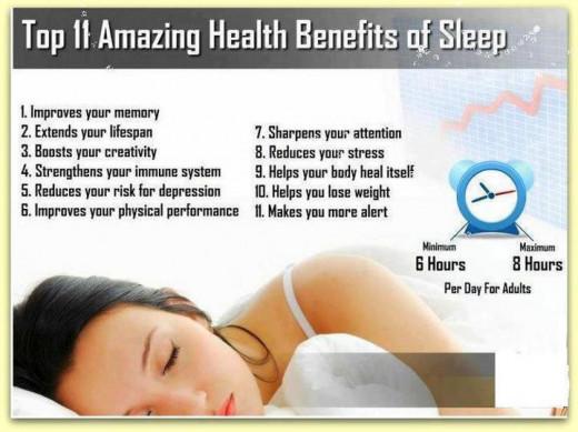 The 11 benefits of sleep