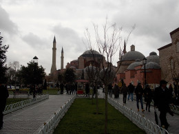 Hagia Sofia seen from Sultanahmet park